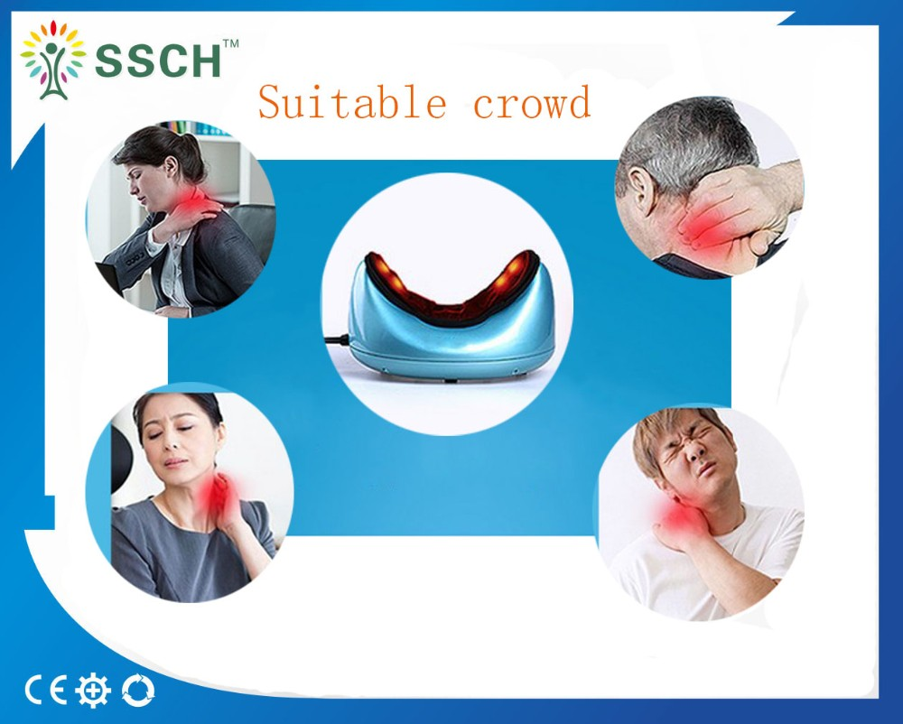 2018 Free Shipping Multifunctional Vehicle mounted Electric Neck Massage Pillow - 6