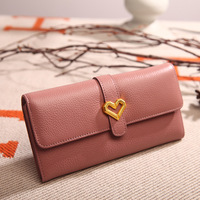 Genuine Leather Women Wallet Litchi Pattern Purse Fashion Female Long Wallets Handbag Coine Money Bag Cellphone ID Holder