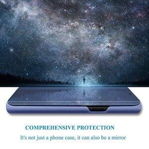 Image 2 - Étui pour Sony Xperia 1 5 XZ3 étui miroir intelligent vue claire en cuir PU béquille couverture rabattable pour Sony Xperia XZ3 Xperia 5 1 étui