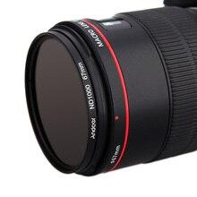 Andoer filtr ND 67mm/72mm/77mm/82mm ND1000 10 Stop Fader neutralnej gęstości filtr do aparatów Canon aparat Nikon aparatu DSLR
