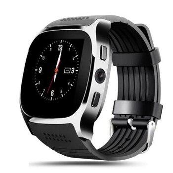 13f8fdc1ff16 10 unids lote T8 pantalla táctil Bluetooth reloj inteligente con cámara  reloj de pulsera Bluetooth para Android IOS teléfono PK U8 A1 DZ09 q18 X6