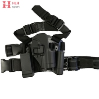For HK USP Drop Leg Holster Compact Pistol Tactical Airsoft Puttee Right Hand Holster W/ Mag Flashlight Pouch