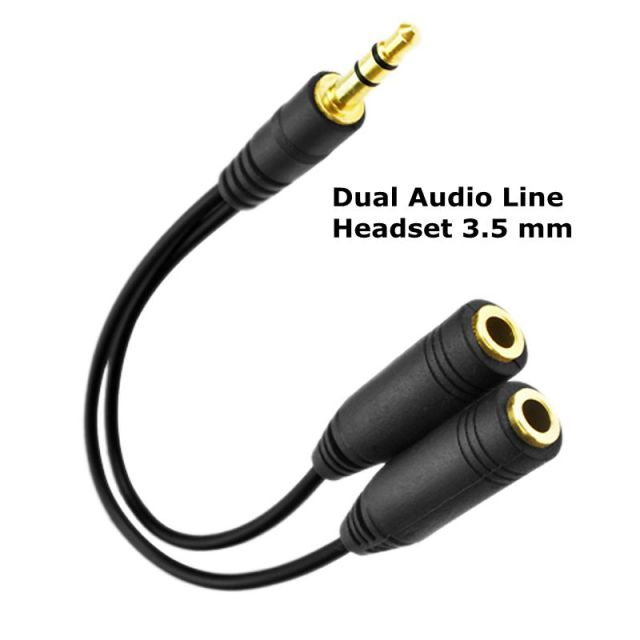 Dual Audio Earphones Splitter
