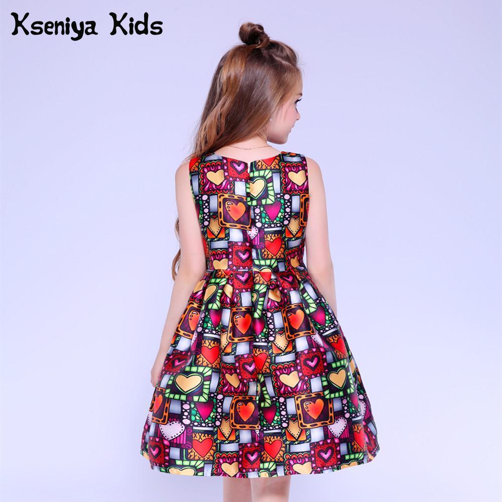 Kseniya Kids Dress Princess Girl Clothing Brand Cute Children Party Dresses  For Girls 10 12 Girls. sku  32900604122 2188cda7116e