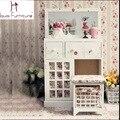Европейский стиль сельской местности мебель для спальни деревянные девушки комод туалетный столик с зеркалом тщеславие комплект
