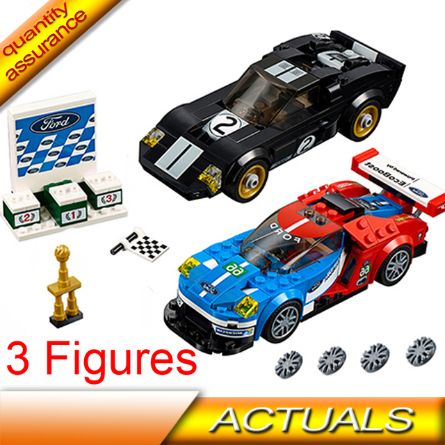 Compatible With Lego  Technic Speed Champions  Ford Gt  Ford Gt Building Blocks Figures Bricks Toys