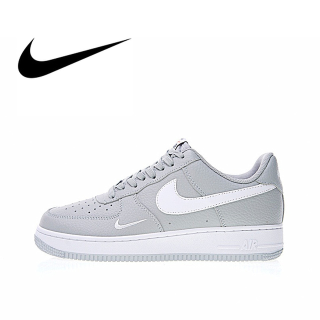 Nike Air Force 1 Sneakers Nike Air Force 1 Low Mini Swoosh Men's Skateboarding Shoes Sport Outdoor  Sneakers Athletic Designer Footwear 2018 New 820266-018