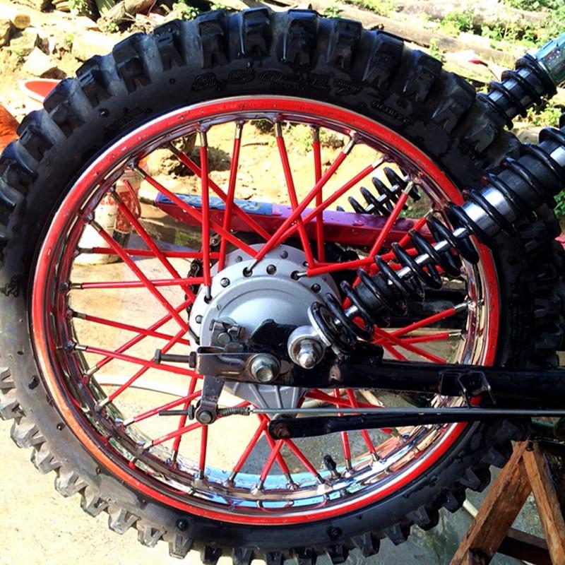 Funie 36pcs Bike Wheel Motocross Spoke Skins Rims Covers Road Guard Wraps Coats