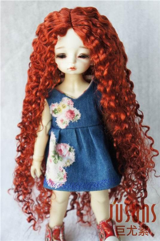 купить JD220 1/6 YOSD  BJD synthetic mohair doll wigs  6-7inch  Long Curly soft BJD hair дешево
