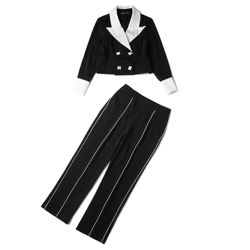 family RMOJUL temperament of the new spring dress 2019 OL bump color suit jacket + 9 minutes of pants fashion set 41