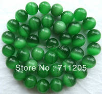 wholesale 38pcs ,10mm Green cat's eye round loose beads ,we provide mixed wholesale for all items ,please contact us !