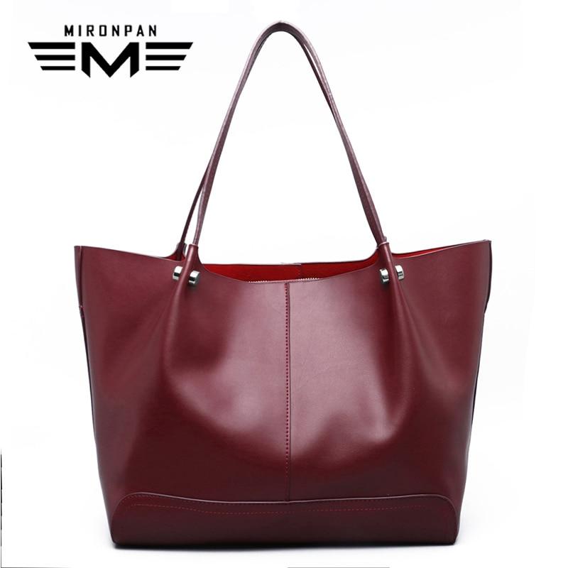 MIRONPAN 2018 Original Female Handbag Summer New Ladies Shopping Shoulder Bag Women Zipper Business Fashion Casual Handbag