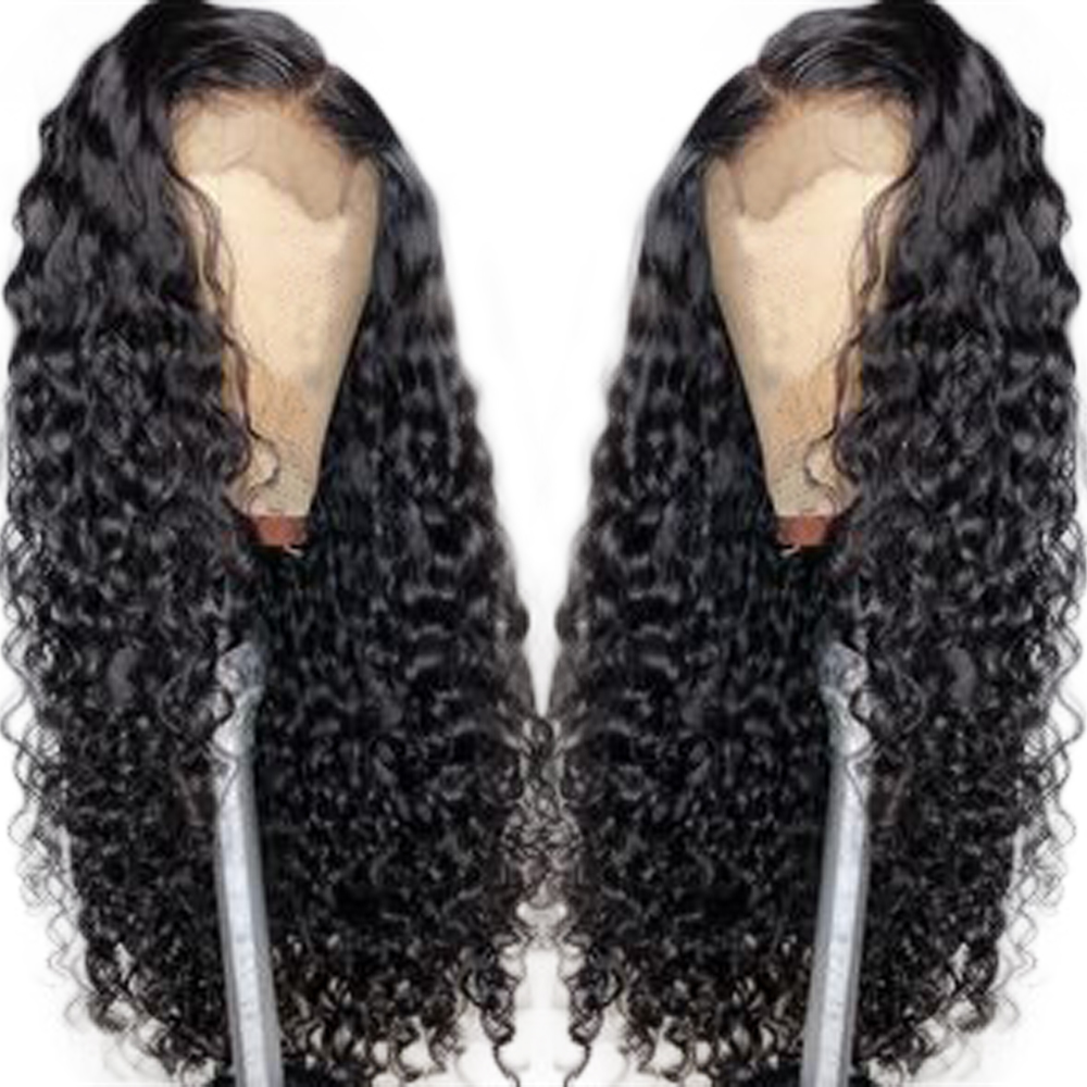Curly 150% Full Lace Wigs Brazilian Remy Hair Pre Plucked With Baby Hair All Around Natural Hairline Eseewigs