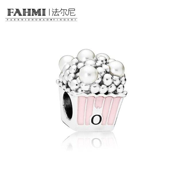 0a9437b9b1fa FAHMI 1 1 Plata de Ley 925 100% Original DELICIOUS palomitas de maíz encanto