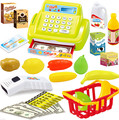 New Baby Educational Toy Pretend Play Register & Scanner Supermarket cash register Children Lovely Babies Riddle Toys 1pcs