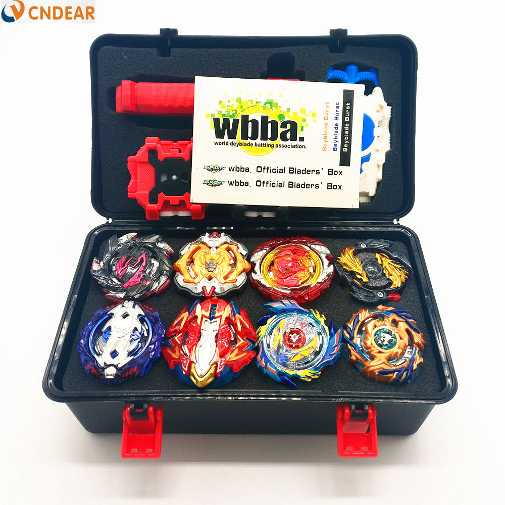 New Hot Beyblade Burst Bey Blade Toy Metal Funsion Bayblade Set Storage Box With Handle Launcher Plastic Box Toys For Children