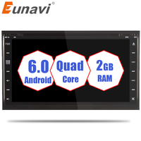 Eunavi Android 6.0 car dvd player gps navigation universal car gps radio video CD DVD disc 2 din for nissan xtrail Qashqai juke