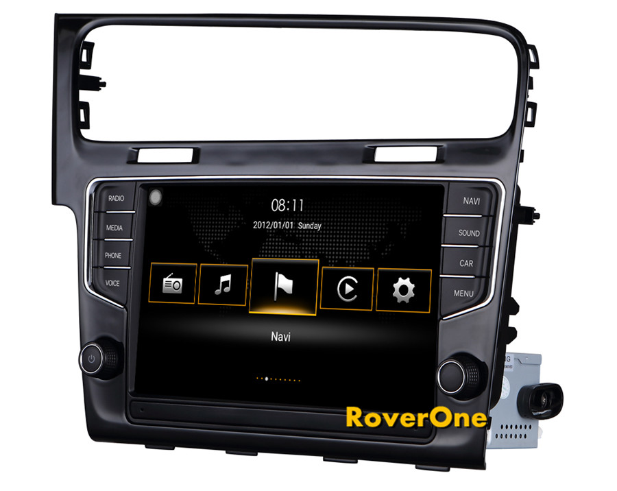 For VW Golf 7 MK7 2014 2015 2016 For Volkswagen MIB 3 III Infotainment System Touch Screen Car Navigation Multimedia Player