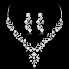 Jewelry-Sets Costume Necklace Pearl Wedding-Imitation-Crystal Bridal-Dubai African Beads