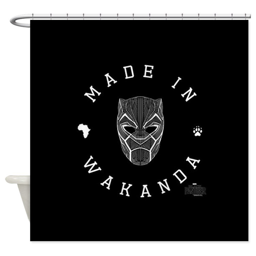 Black Panther Made Decorative Fabric Shower Curtain