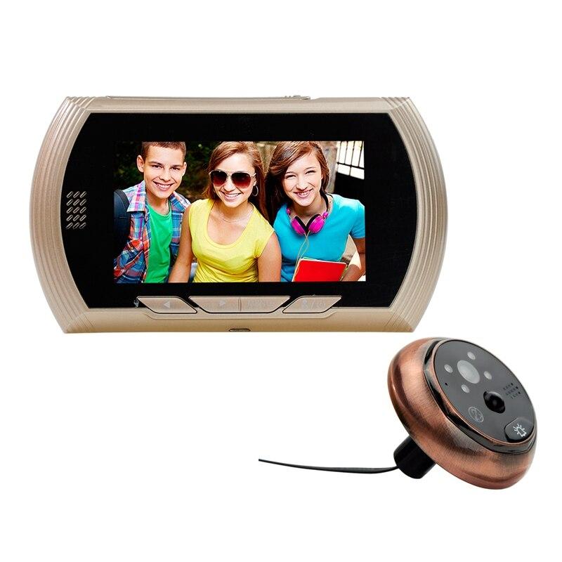 4.3 Inch Color Digital Peephole Viewer Camera Door Eye Video Record Viewers Doorbell 140 Degree Night Vision No Disturb Function