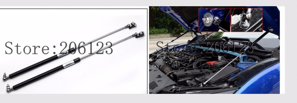 2016 2017 2018 2019 For Honda Civic ACCESSORIES CAR BONNET HOOD GAS SHOCK STRUT LIFT SUPPORT CAR STYLING