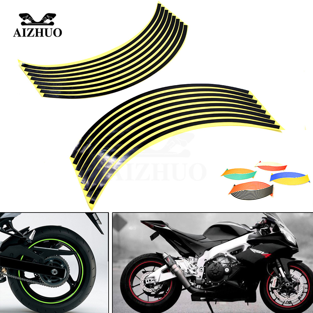 17inch/18inch wheel Strips Motorcycle Reflective Wheel Sticker for KTM EXC 125 200 250 300 350 400 450 500 525 530 Honda MSX125