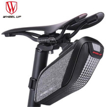 WHEEL UP Bicycle Saddle Bag 3D Shell Rainproof MTB Bike Rear Bags Reflective Cycling Seat Tail