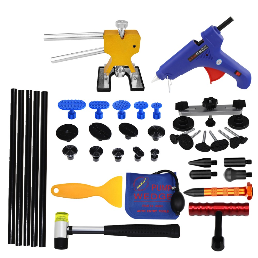 PDR Auto Body Paintless Dent Removal Repair Tools Kits Bridge puller Slide Hammer Glue Puller Automotive Door Ding Dent 337 whdz pdr auto body paintless dent removal repair tools kits bridge puller 2in1slide hammer glue puller automotive door ding dent
