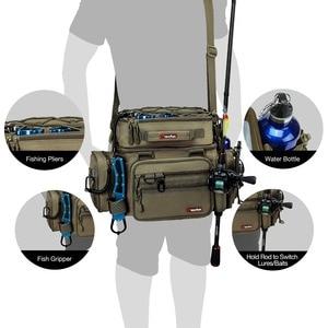 Image 5 - Многофункциональная сумка для рыбалки Piscifun, большая сумка для хранения снастей, Портативная сумка для занятий спортом на открытом воздухе, Походов, Кемпинга, сумка для рыбалки