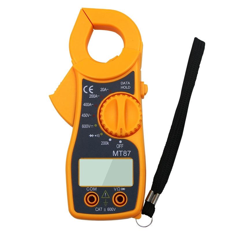 MT-87 Digital Clamp Meter 600A AC/450V DC Multimeter Current Clamp Pincers Voltmeter Ammeter Ohm Current Voltage Tester