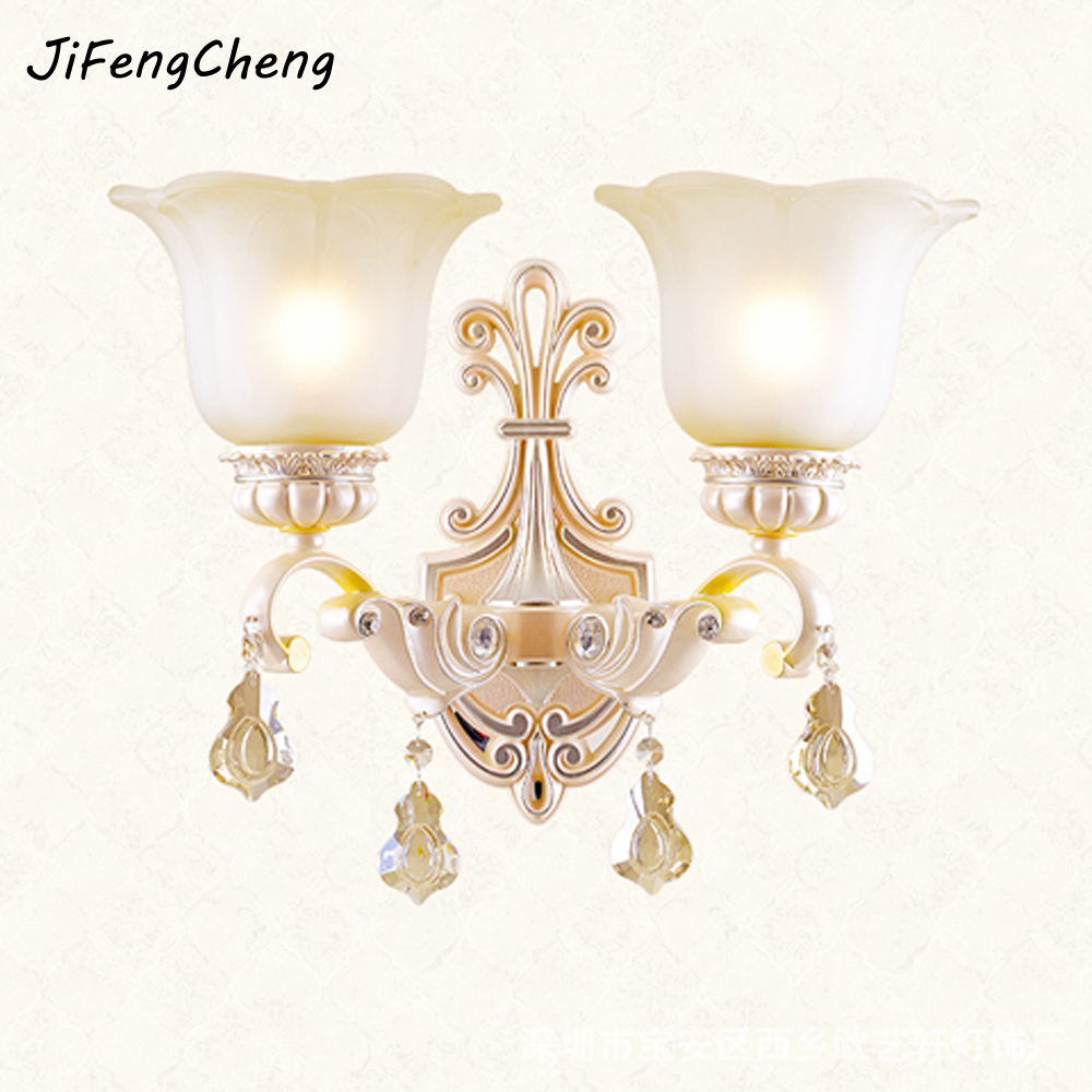 European Style Led Wall Lamp Crystal Pendant Vintage Wall Sconces Glass Lamp LED Warm Bedroom Staircase Lighting Garden Lights hallway wall lights led crystal wall lamp led bedside lamp bedroom crystal wall sconce gold modern crystal wall sconces lighting