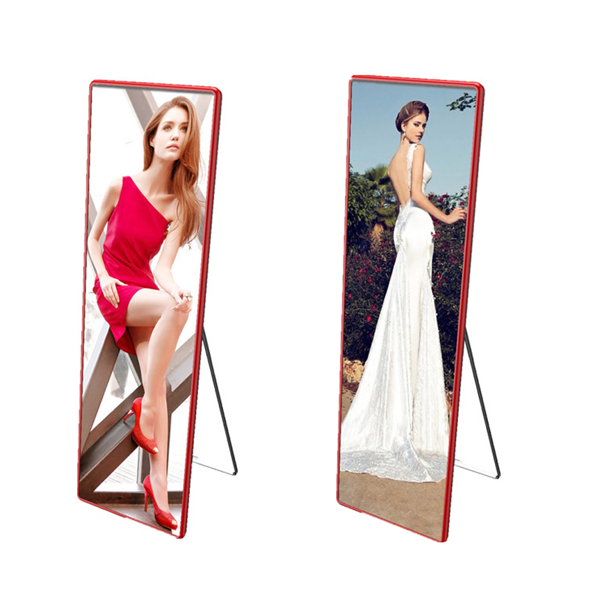 Indoor P2.5mm standing floor led poster screen 1920x640mm mirror led display panels LED advertising machine displayIndoor P2.5mm standing floor led poster screen 1920x640mm mirror led display panels LED advertising machine display