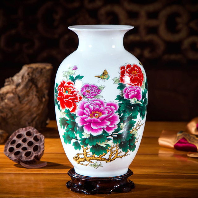 18 Style Jingdezhen Antique Chinese Style Ceramic Vases Crafts Home