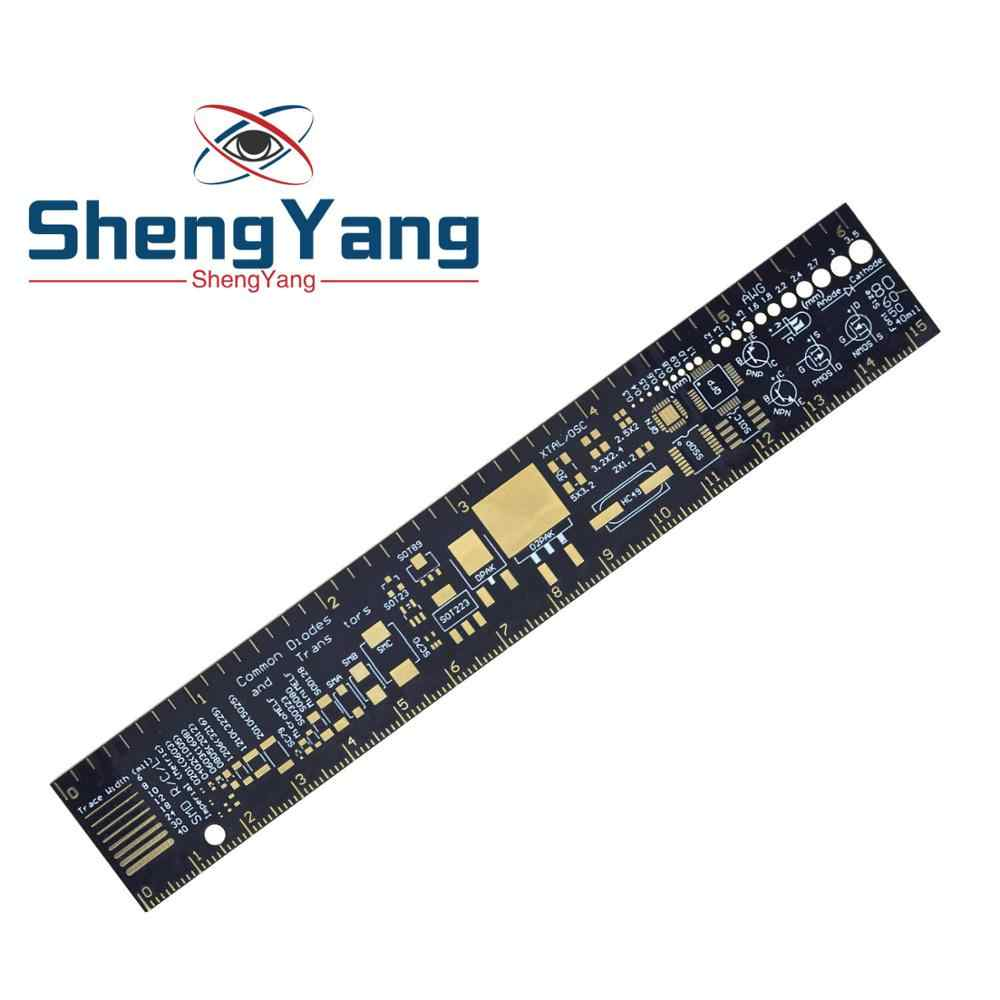 ShengYang  PCB Ruler For Electronic Engineers For Geeks Makers For Arduino Fans PCB Reference Ruler PCB Packaging Units v2 - 6