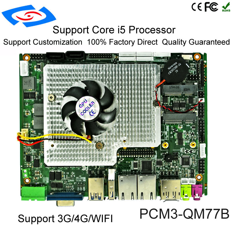 Cheap <font><b>Intel</b></font> <font><b>Core</b></font> <font><b>i5</b></font>-<font><b>2430M</b></font> Dual <font><b>Core</b></font> QM77 Chipset Industrial Computer Motherboard With Multi-serial Port Mainboard image