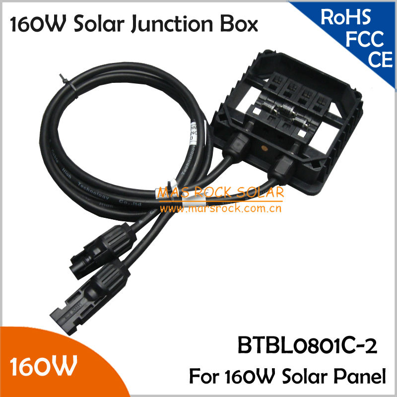 5pcs/Lot Wholesale Solar Panel Connecting Box, IP65 Waterproof Junction Box 160W, Solar Terminal Box 160W 10A, TUV Certificate 140w 200w solar junction box waterproof ip65 for solar panel connect pv junction box solar cable connection with diode