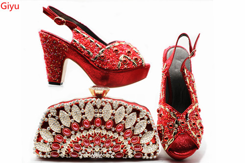 Doershow  Italian Shoe with Matching Bags Shoe and Bag Set for Party In Women Italian Matching Shoe and Bag Set with red HJH1-3Doershow  Italian Shoe with Matching Bags Shoe and Bag Set for Party In Women Italian Matching Shoe and Bag Set with red HJH1-3
