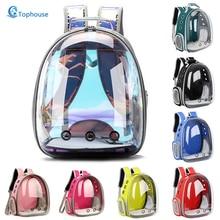 Mochila portátil transpirable para gatos y perros, mochila de viaje para exteriores, transparente, envío gratis