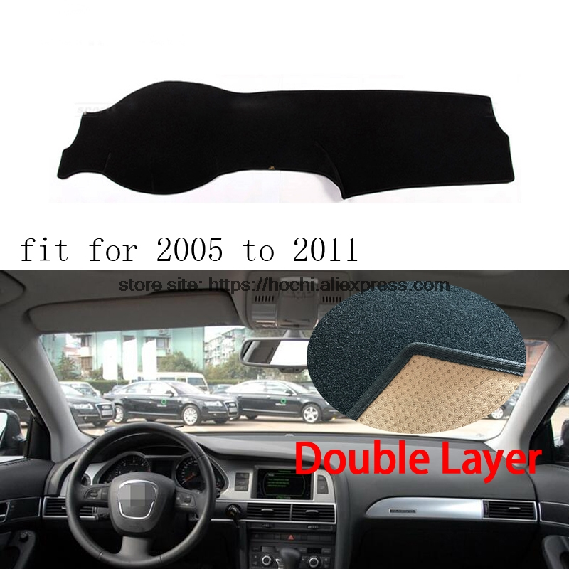 For Audi A6 A6L 2005-2016 Double layer Silica gel Car Dashboard Pad Instrument Platform Desk Avoid Light Mats Cover Sticker