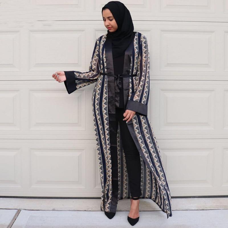 c4f45f5af8b6 Abaya Dubai Bangladesh Islam Long Chiffon Abayas For Women Cardigan Muslim  Hijab Dress Jilbab Kaftan Turkish Islamic Clothing