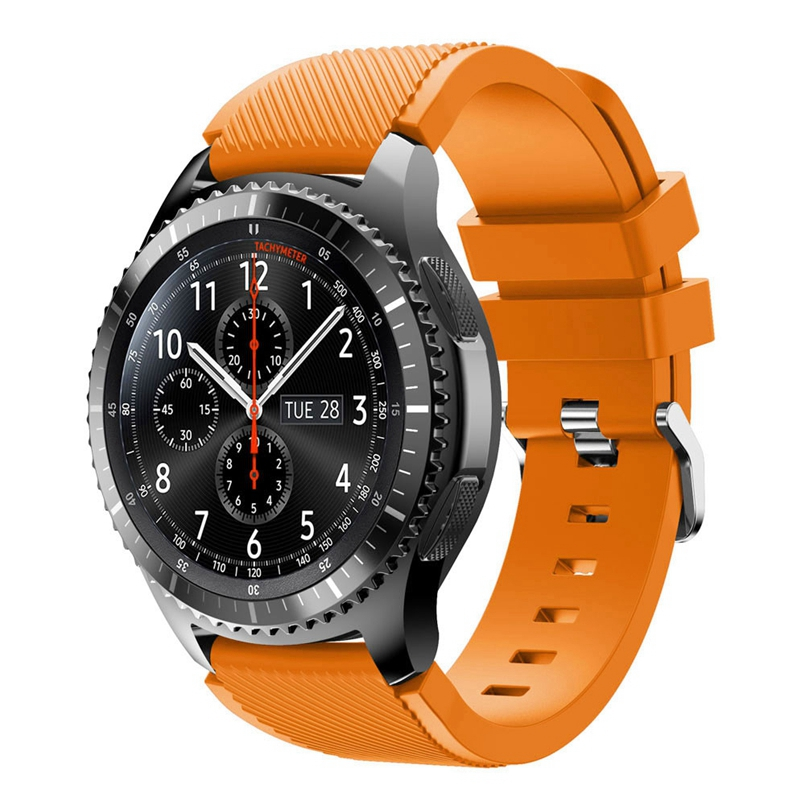 Excellent Quality Rubber Wrist Strap for Samsung Gear S3 Frontier Silicone Watch Band Bracelet Band 22mm dropship #02 jansin 22mm watchband for garmin fenix 5 easy fit silicone replacement band sports silicone wristband for forerunner 935 gps