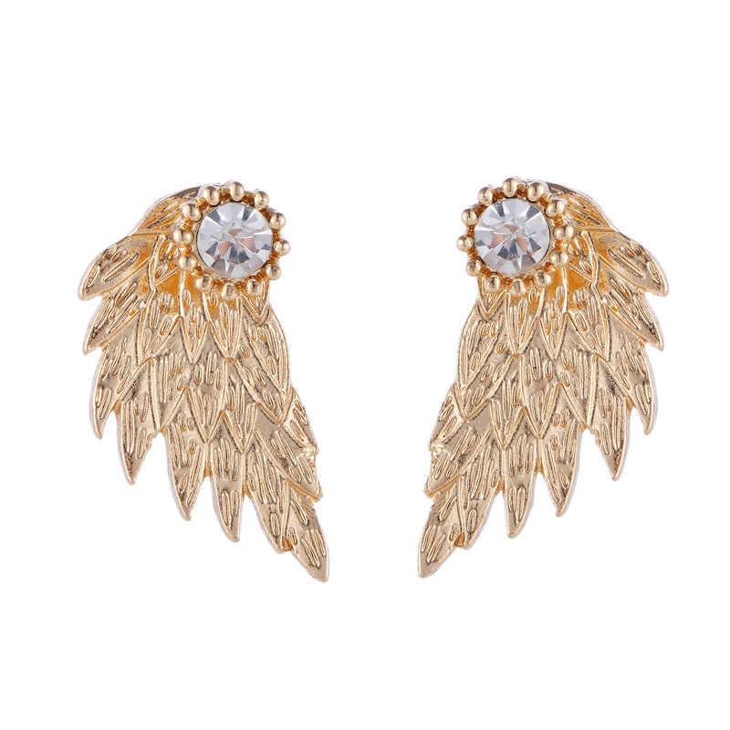 Pendientes coreanos circonio perla corazón cristal flor Ángel alas geométricas pendientes para mujeres declaración oreja joyería al por mayor