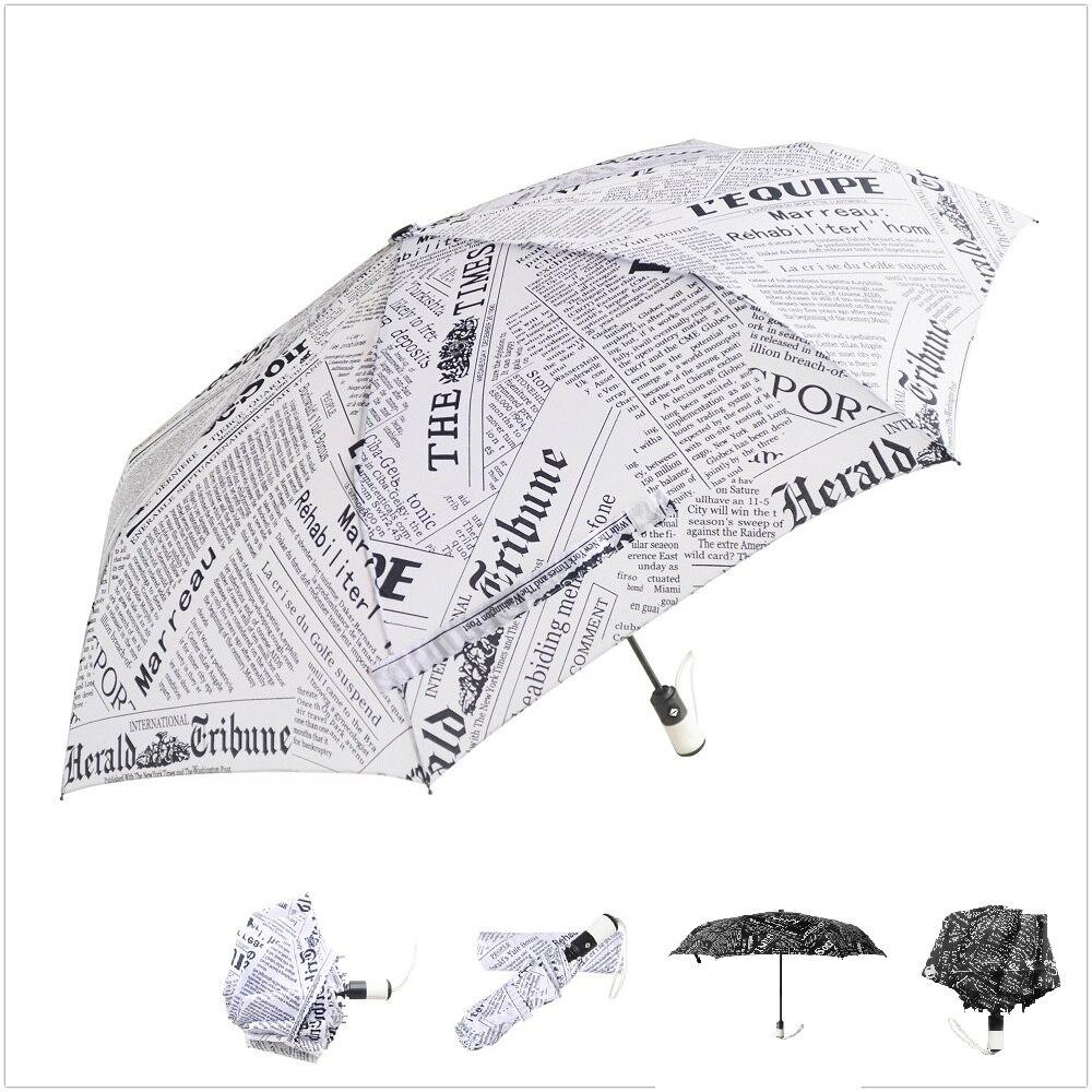 british series style the latest model newspaper total fiber frame umbrella auto open and close 3