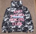 El Acto Antisocial Club Social assc yeezus kanye west camuflaje fleece con capucha sudaderas con capucha de los hombres sportswear anti social club social