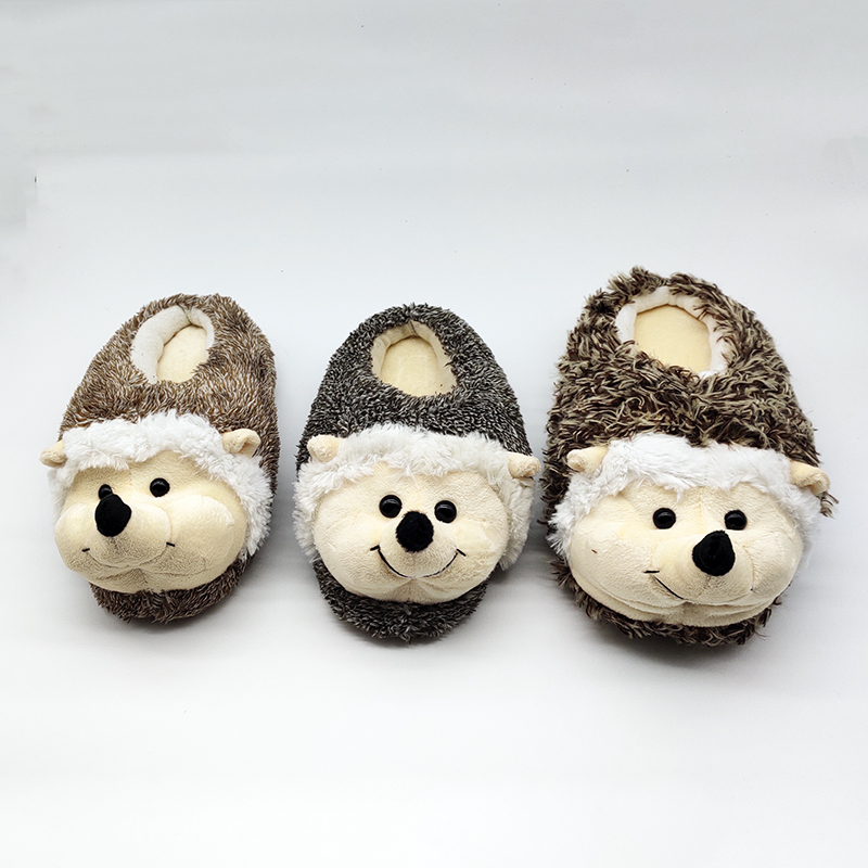 Indoor Slippers Special dog offer custom a warm winter hedgeh lovers home slippers thick hard bottom shoes on floor lovers shoes 1