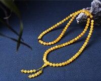 TNUKK 6/8 millimetri 10mm collana di ambra naturale per gli uomini e le donne con gioielli.