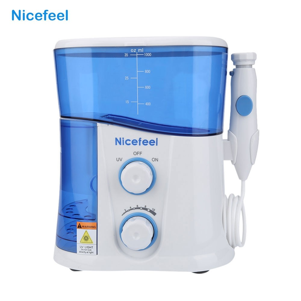Oral Irrigator Dental Whitening Water Teeth Flosser Electric Tooth Cleaner Machine Tooth Device With UV Sanitizer h2ofloss electric oral irrigator jet teeth waterflosser dental shower cleaning machine dental water flosser teeth whitening tool