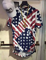 Американский флаг сша уничтожьте разорвал zip Футболка Американский флаг Футболка