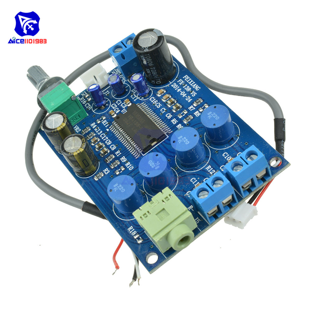 YDA138-E YAMAHA 10W+10W Dual Channel Audio Digital Amplifier Board DC 12V